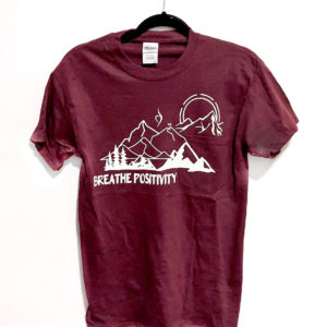Breathe Positivity Mountain Tee
